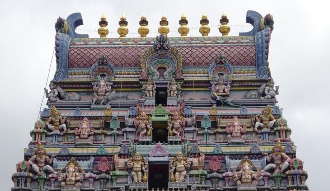 El Templo Hindú es uno de los lugares más turísticos de Mahé/ Foto: Tamara Garco