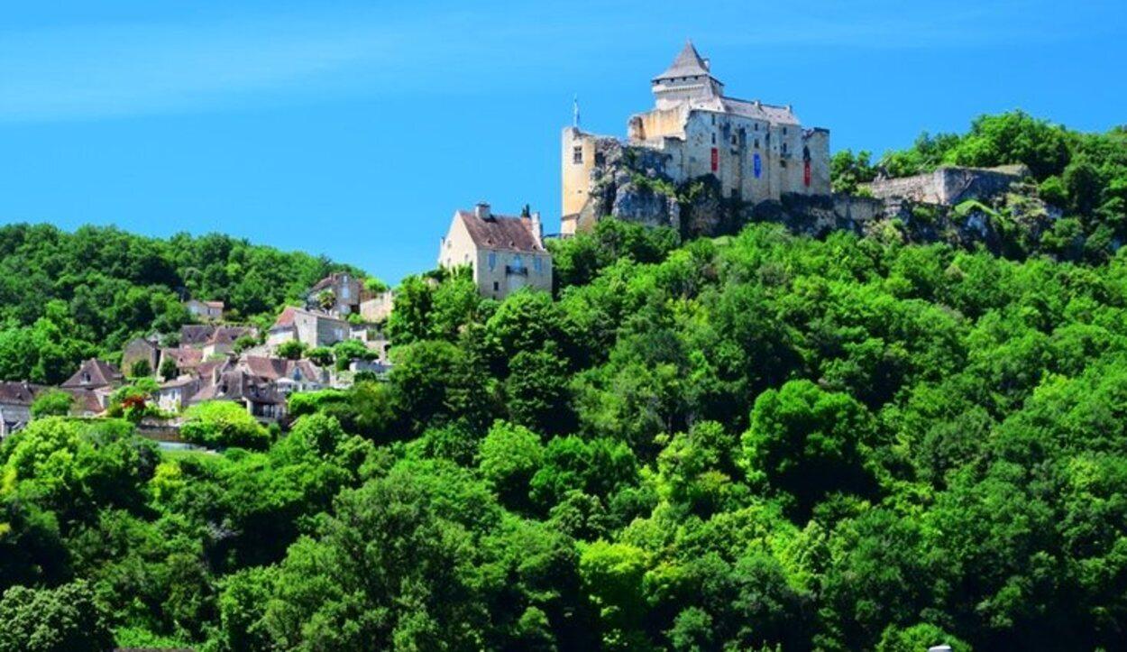 Un castillo oculto por la vegetación