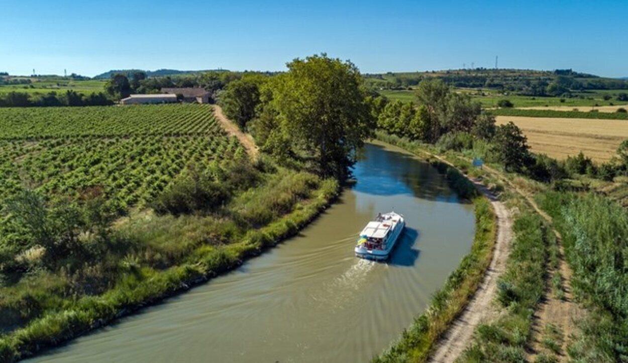 La ruta en barco por el Canal du Midi