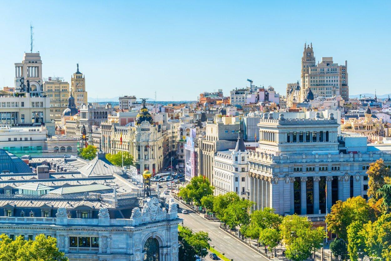 Madrid goza de muchos días despejados en los que tener vistas como esta