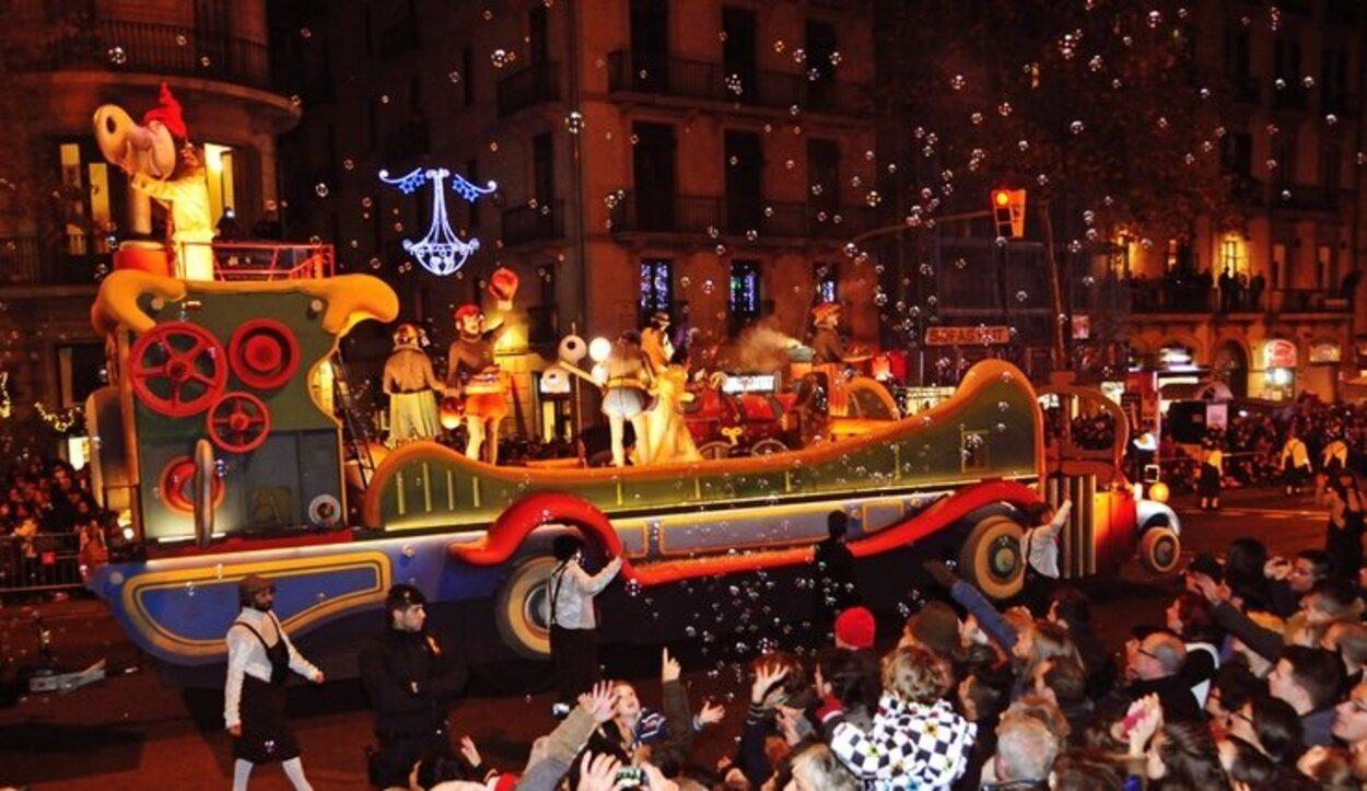 Las fiestas navideñas se cierran en Barcelona con la Cabalgada de los Reyes Magos de Oriente