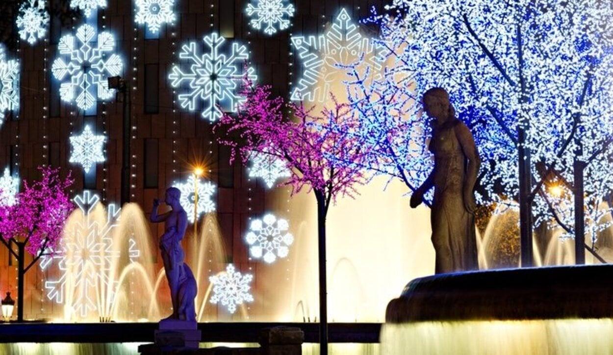 La Plaza de Sant Jaume en Navidad