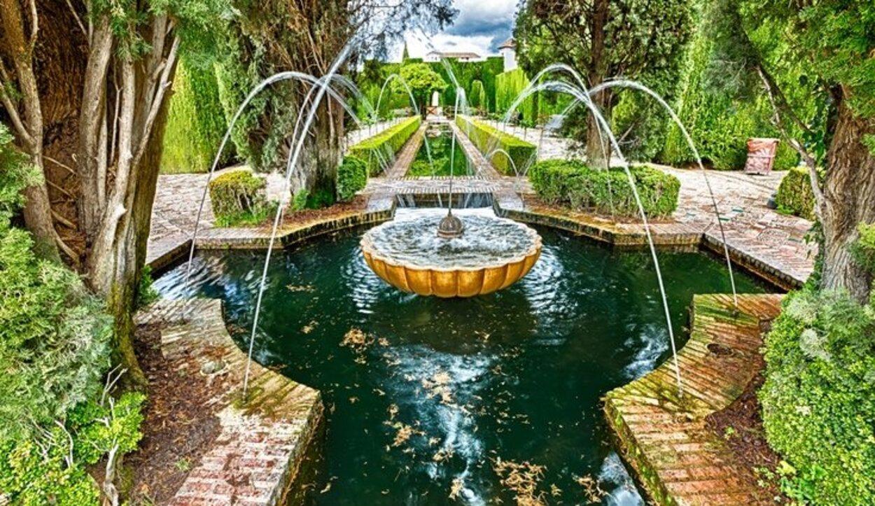 Los jardínes de La Alhambra