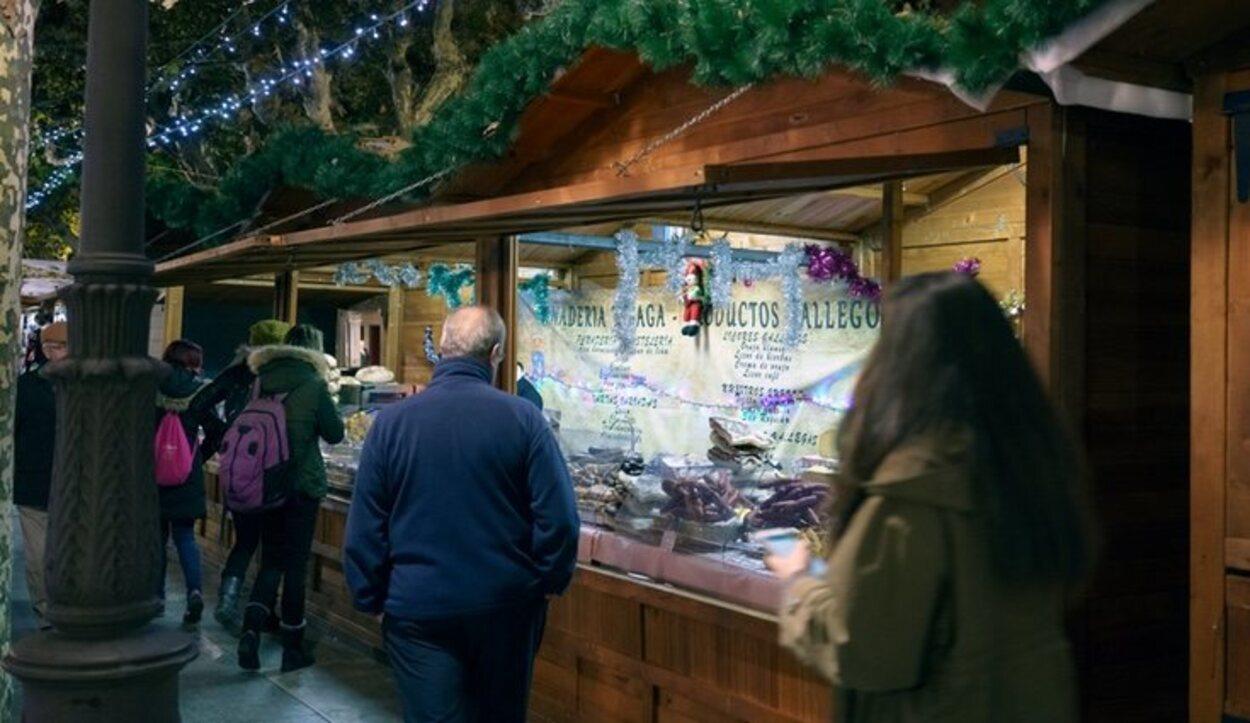 Los puestos navideños son una tradición