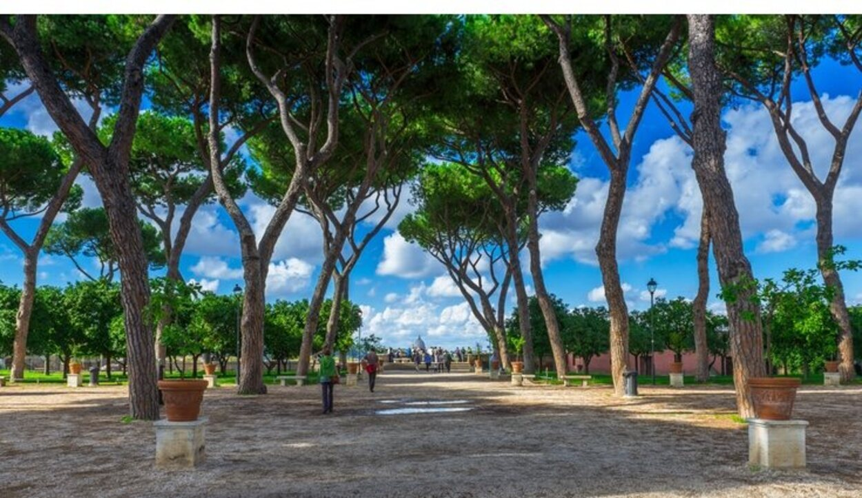 El Jardín de los Naranjos también recibe el nombre de Parque Savello