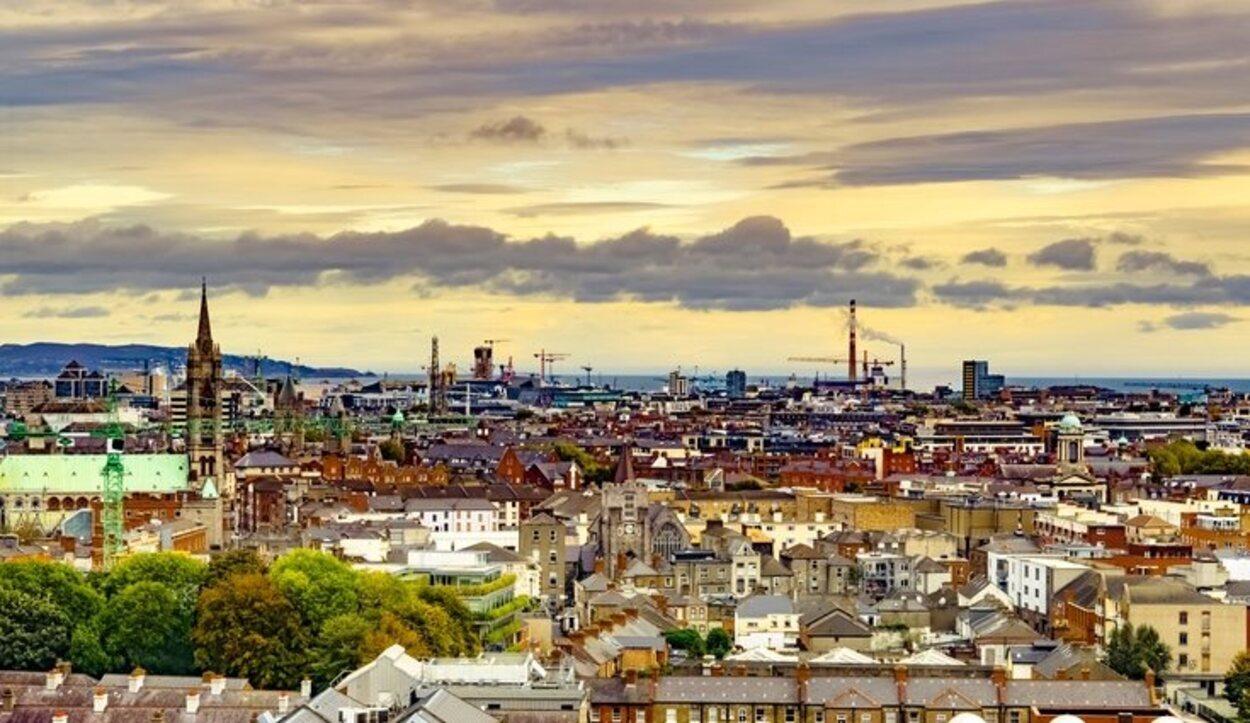 Vistas de todo Dublín desde la séptima planta