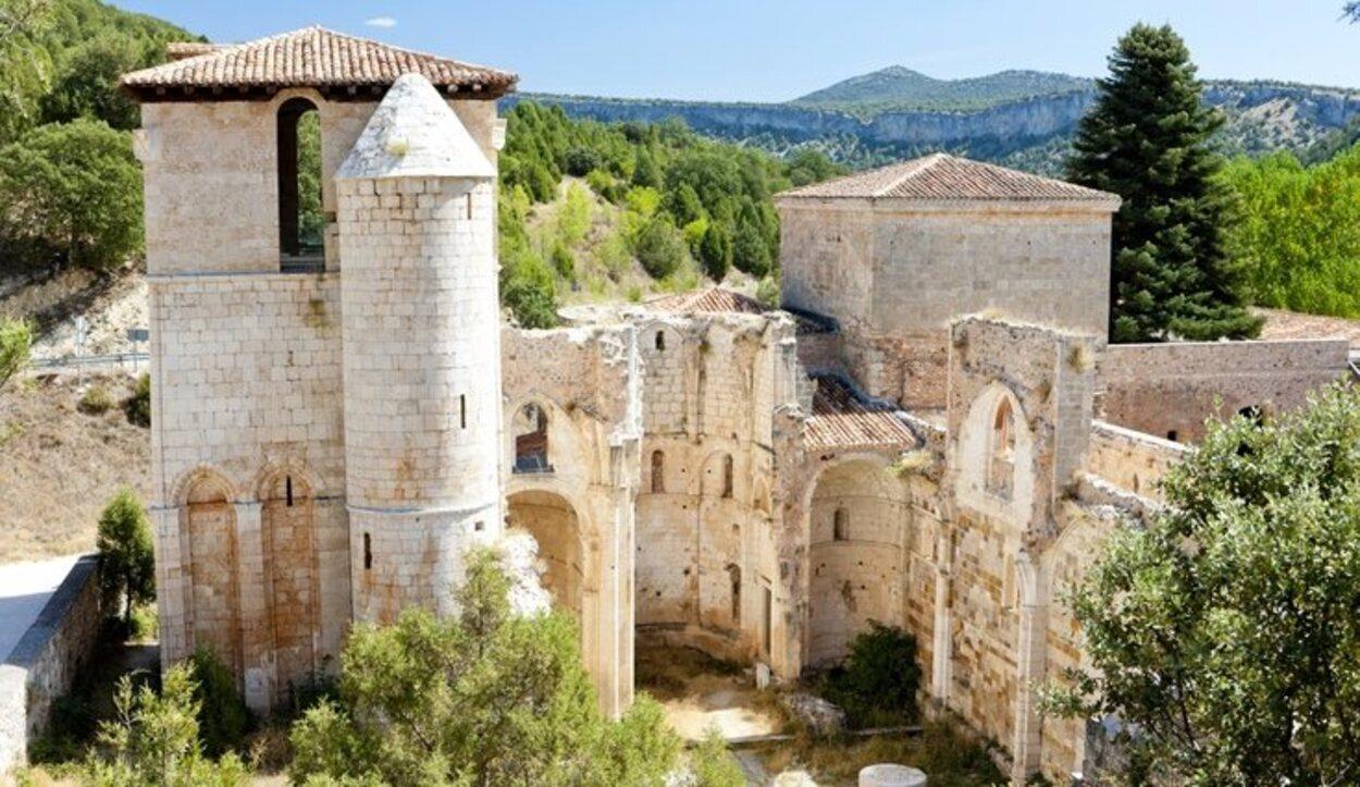 Desde el Monasterio de San Pedro de Arlanza hay unas vistas increíbles
