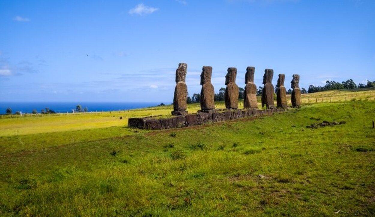 Los Ahu Akivi hacen honor a las siete primeras personas que llegaron a la isla