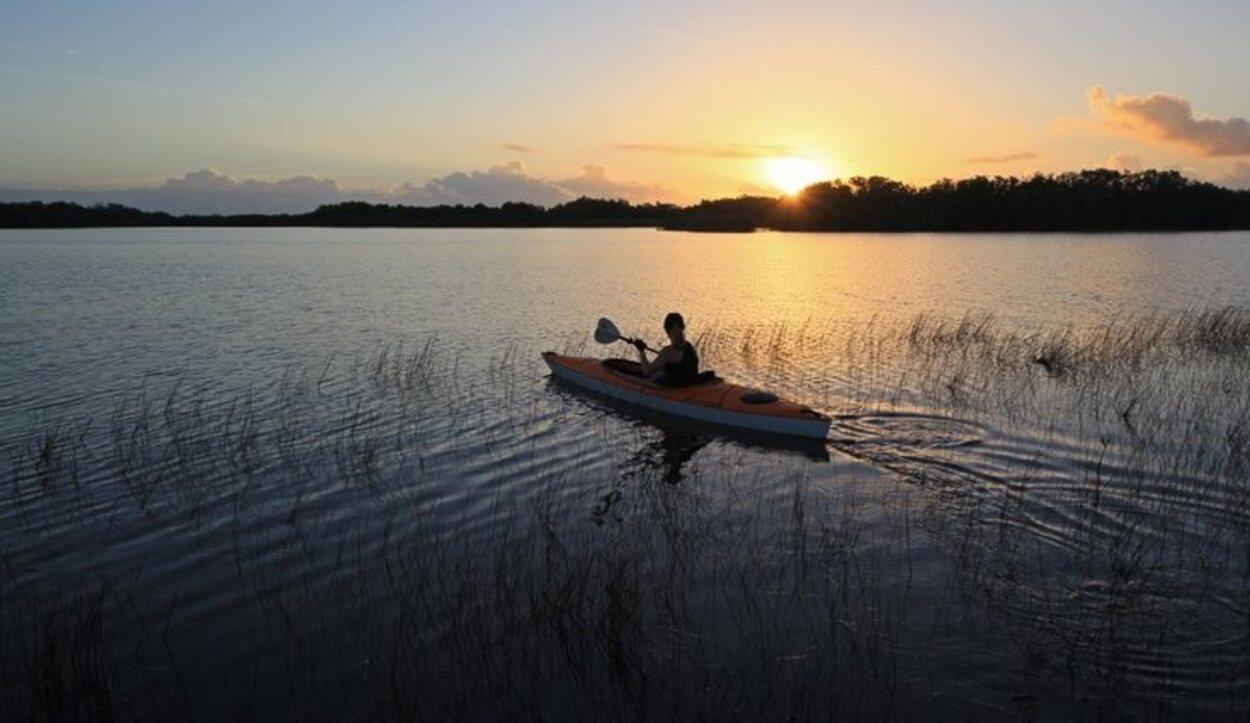 Es un lugar perfecto para los amantes del kayak o el bote