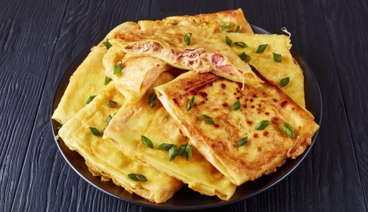 El Msemen es un pan que se suele tomar de merienda y relleno de dulce o salado