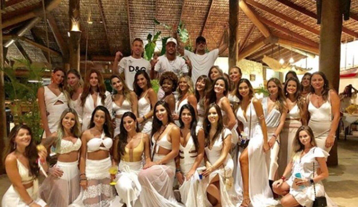 Neymar celebrando el 'reveillon'
