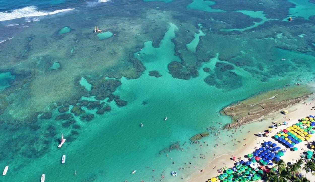 Apariencia de las llamadas 'piscinas naturales' desde vista aérea