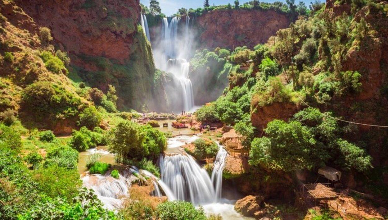 Las cascadas de Ouzoud están en la cordillera del Atlas