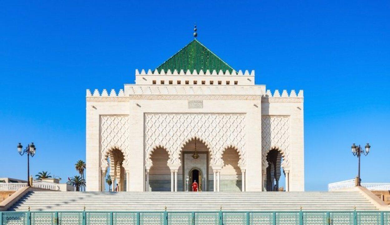 Mausoleo de Mohamed V, al lado de la Torre Hassan, Rabat