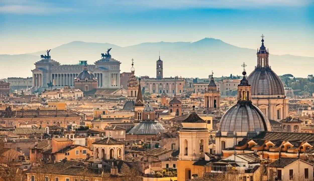Vista de Roma desde el Castillo de San Angelo