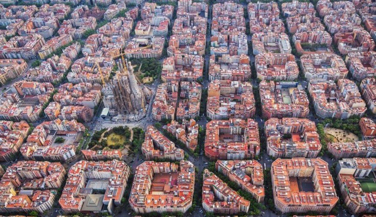 Barcelona a vista de pájaro