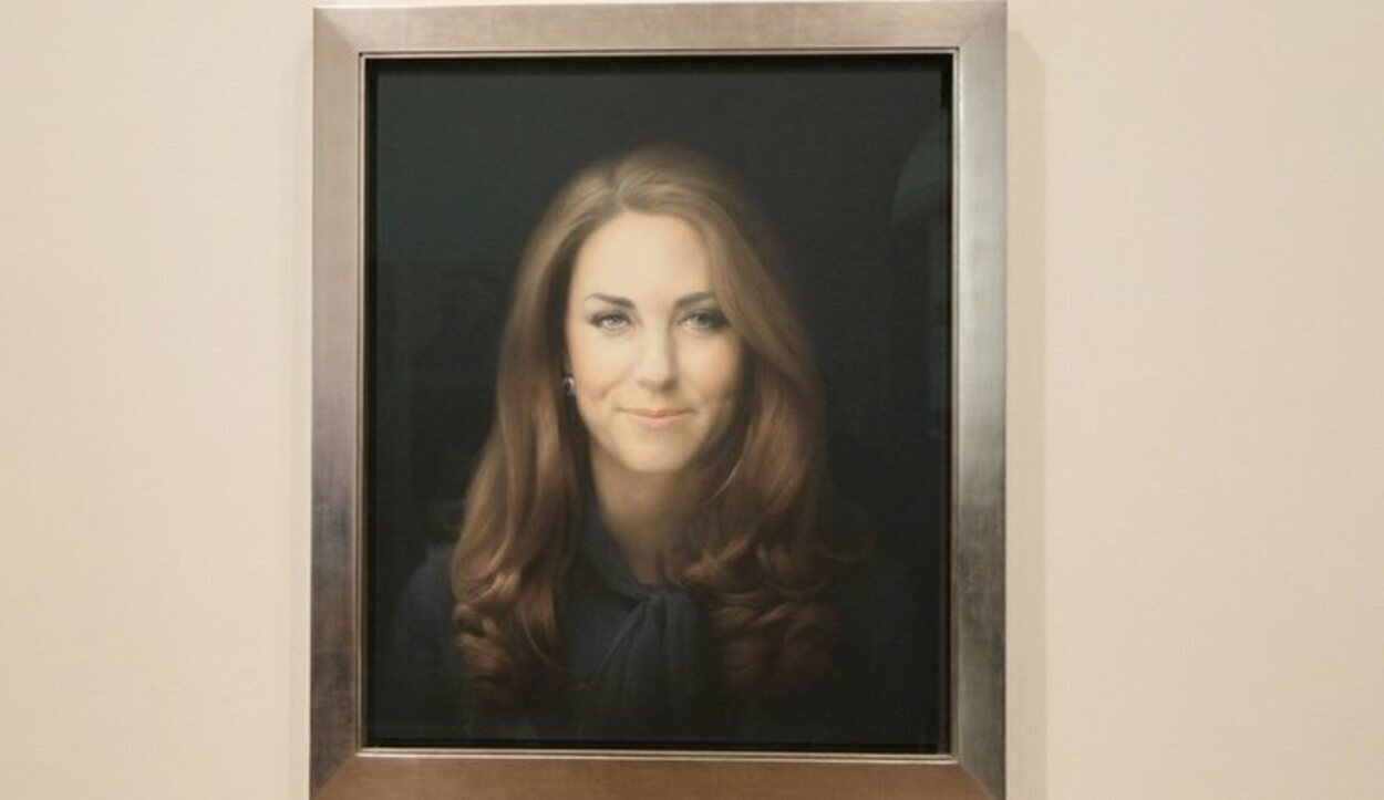 Retrato de Kate Middleton, patrona real de la National Portrait Gallery