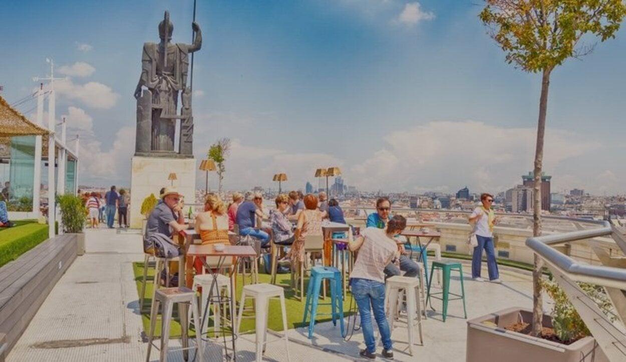La terraza del Circulo de Bellas Artes se encuentra a 56 metros de altura