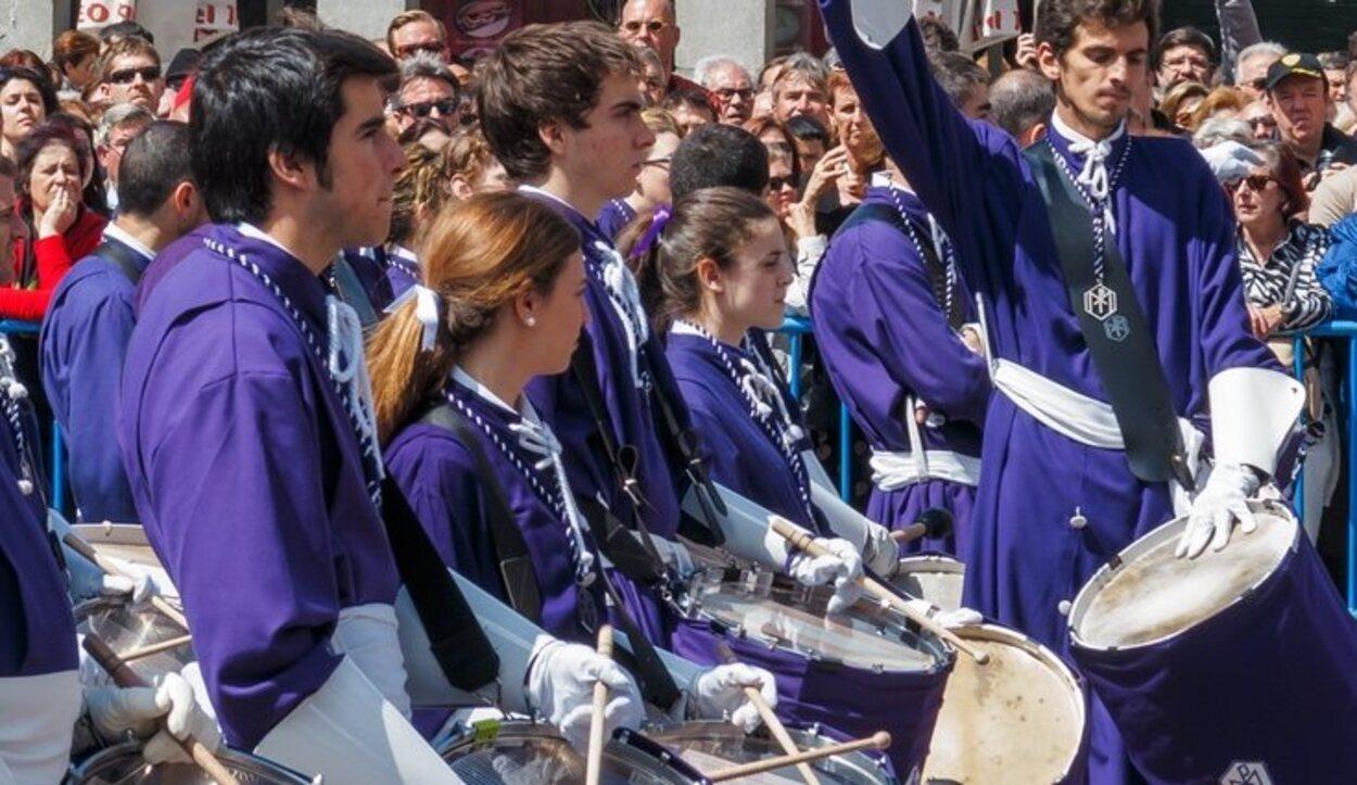 La Tamborrada en la Plaza Mayor de Madrid