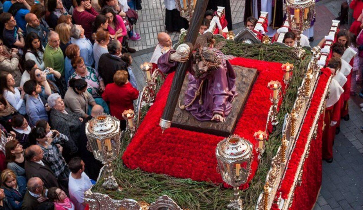 El Santo de Jesús Despojado en una cofradía