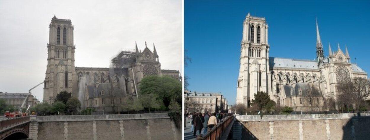 Tras los daños causados por el incendio se espera una reconstrucción de la catedral