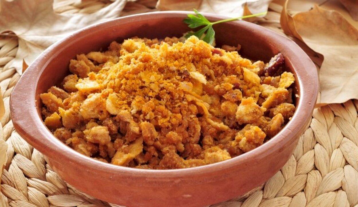 Las migas son un plato típico de Teruel
