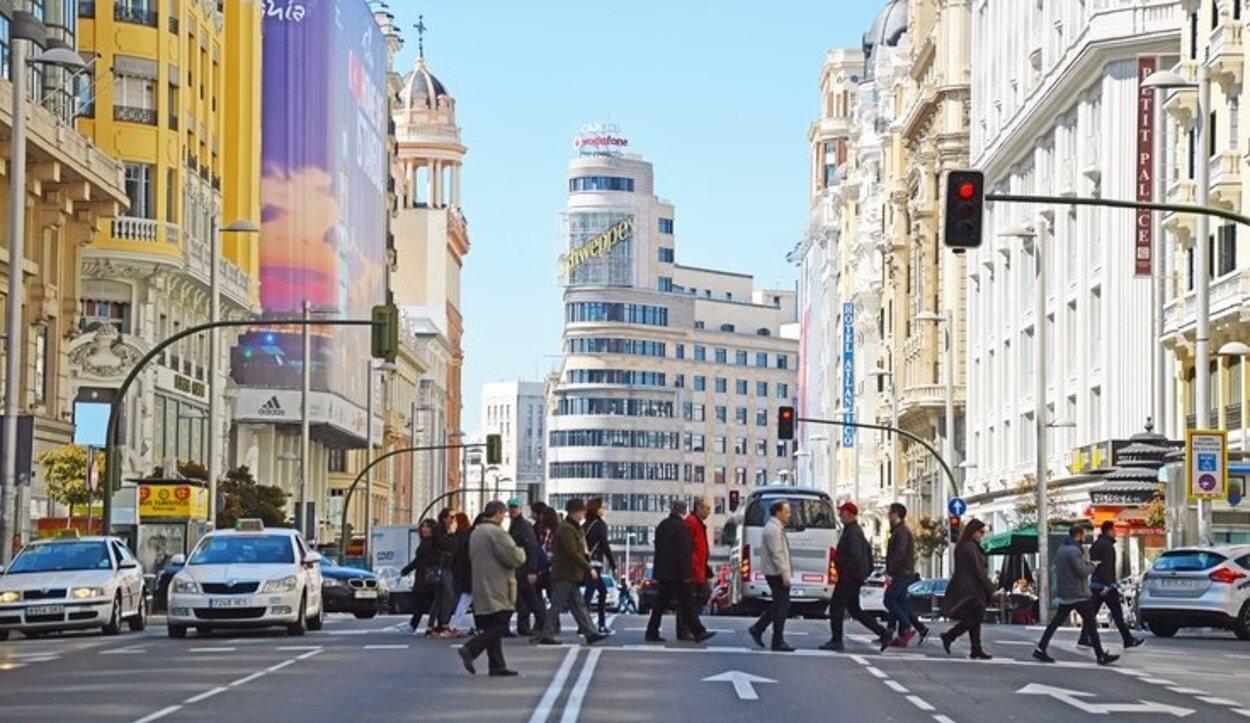 En la Gran Vía de Madrid siempre se respira buen ambiente
