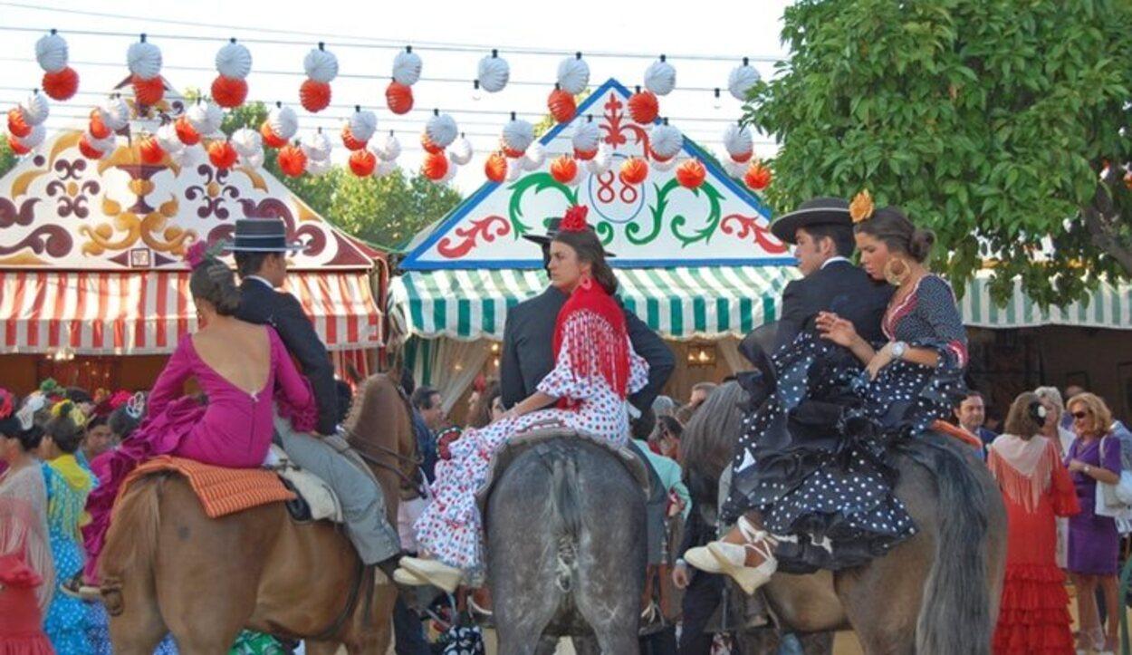 En ocasiones la feria de Sevilla se celebra en mayo