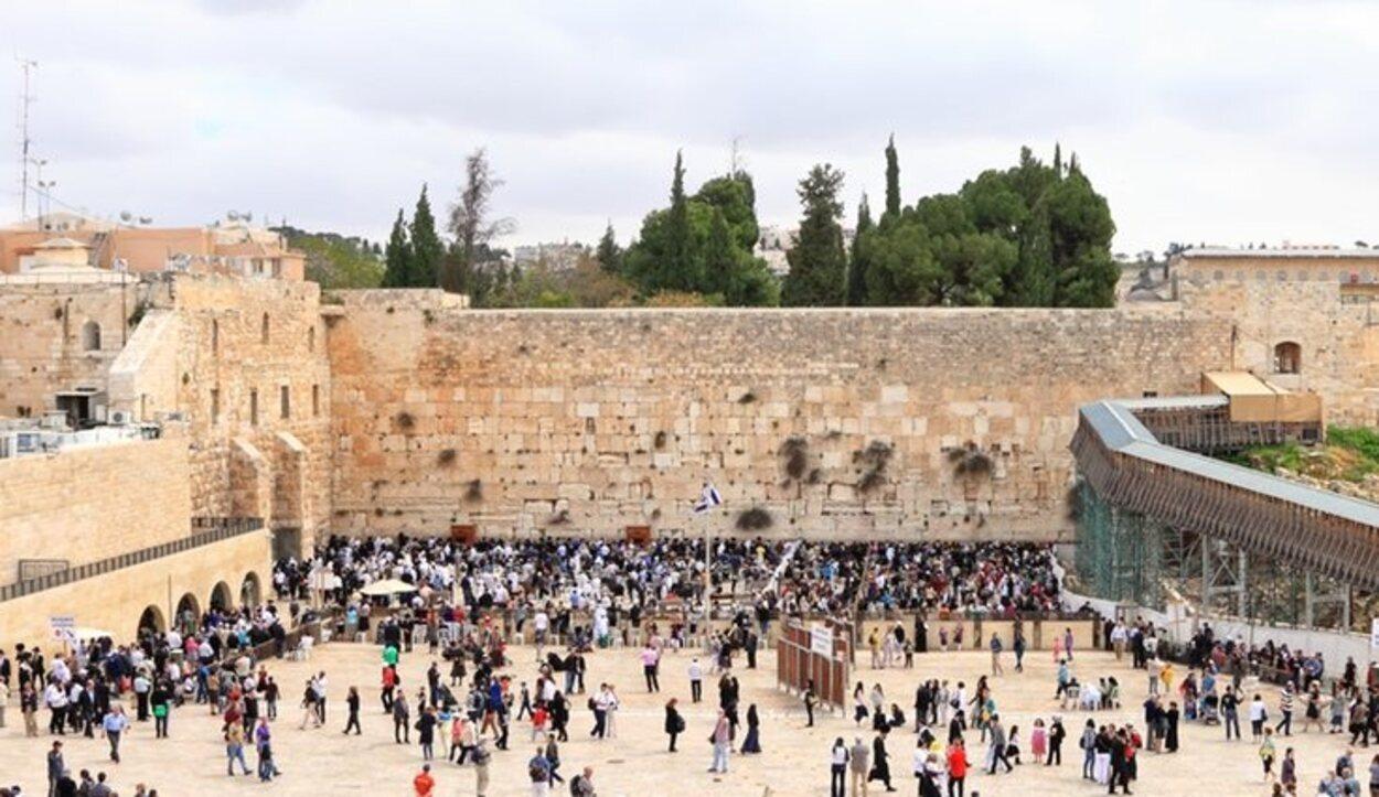 Muro de las Lamentaciones, en el barrio Judío de Jerusalén