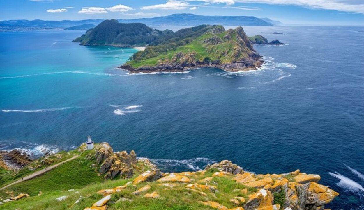 Paisaje de Galicia en las Islas Cíes