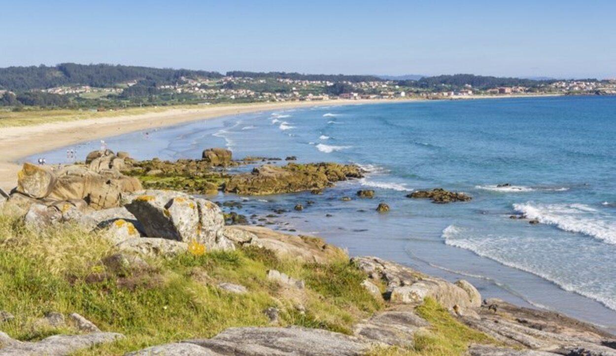 La playa de A Lanzada en Galicia es considerada una de las más limpias de Europa