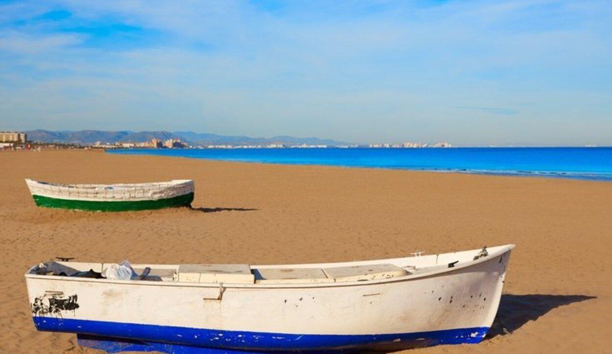 La playa de la Malvarrosa es una de las mejores de la Comunidad Valenciana