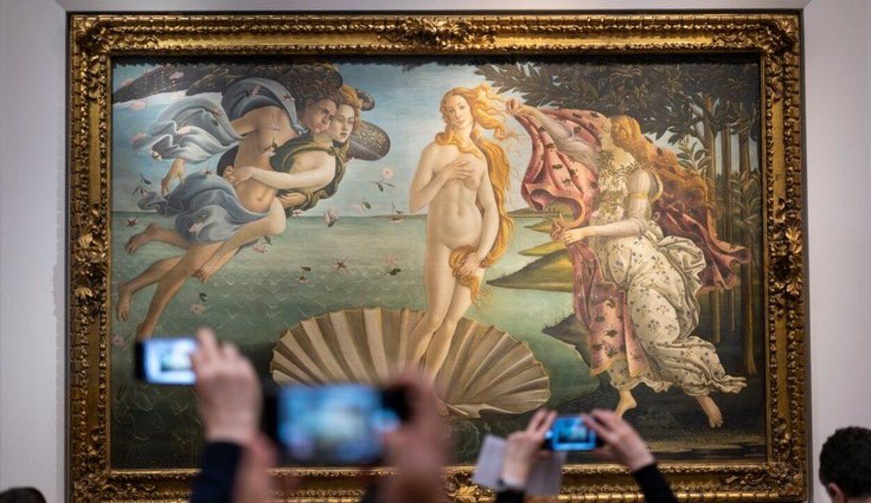 El Nacimiento de Venus en la Galería Ufizzi