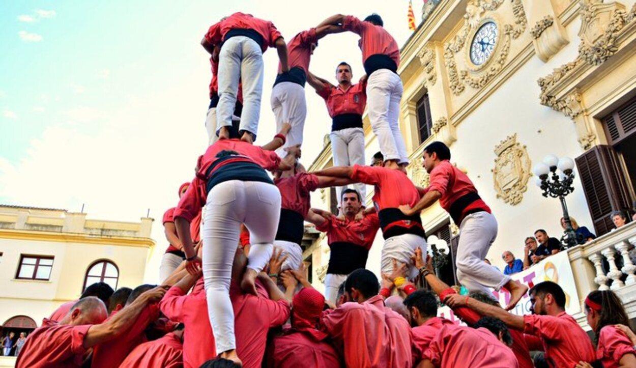 Los castells es una actividad típica de Cataluña