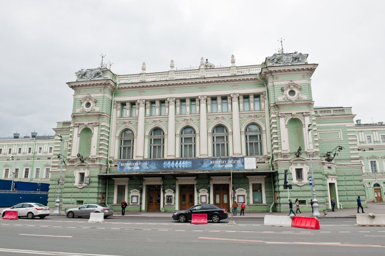 Fachada del teatro Mariinski