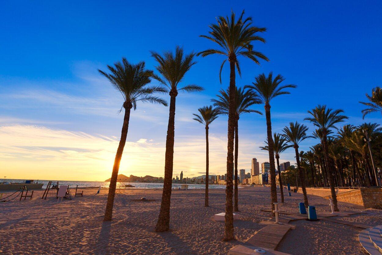 Playa de poniente en Benidorm, Alicante