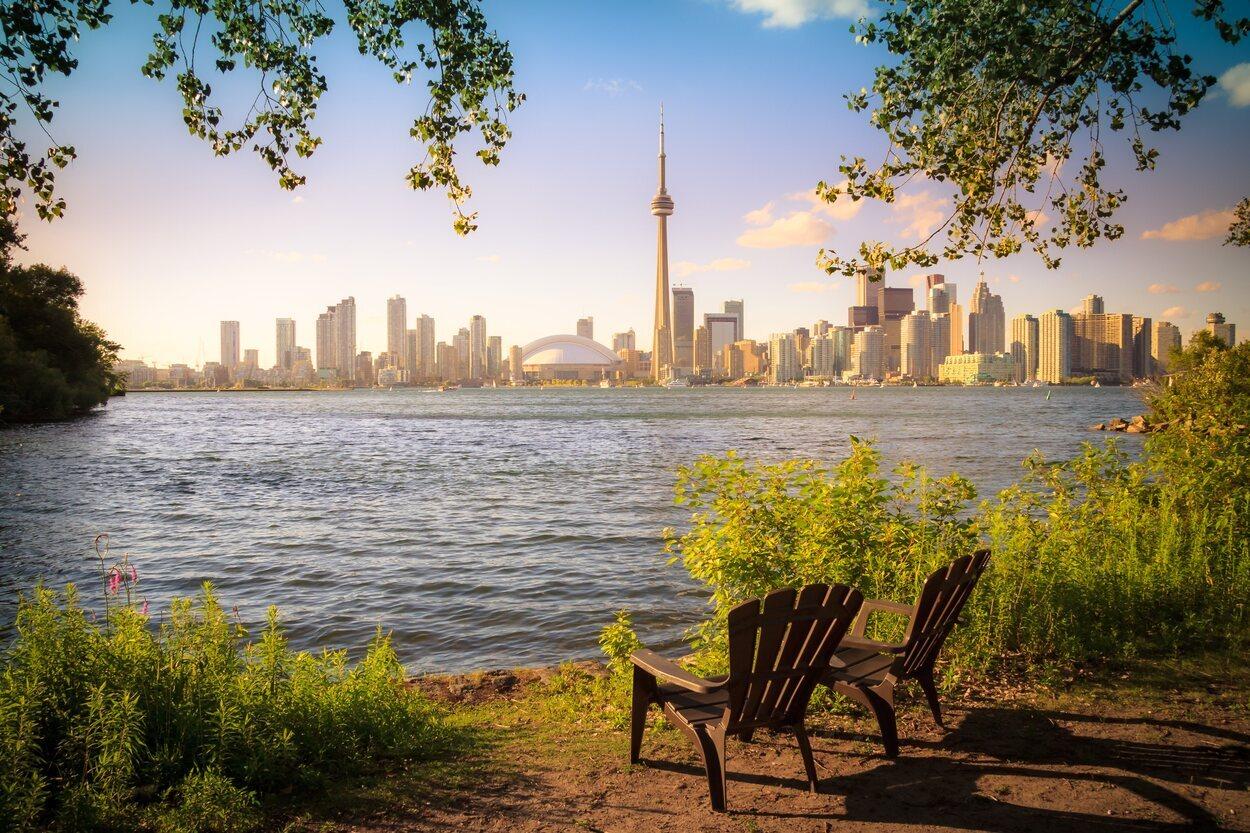 Desde Toronto Islands se podrán tener unas maravillosas vistas de la ciudad