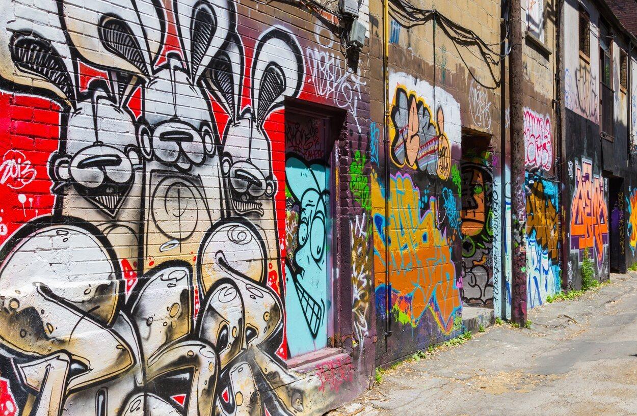 Esta calle está dedicada exclusivamente a la cultura del graffiti