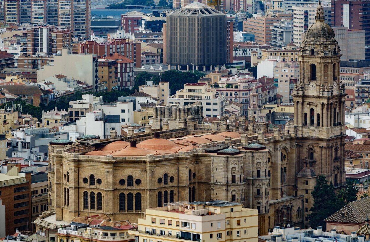 Vista exterior de la catedral de Málaga