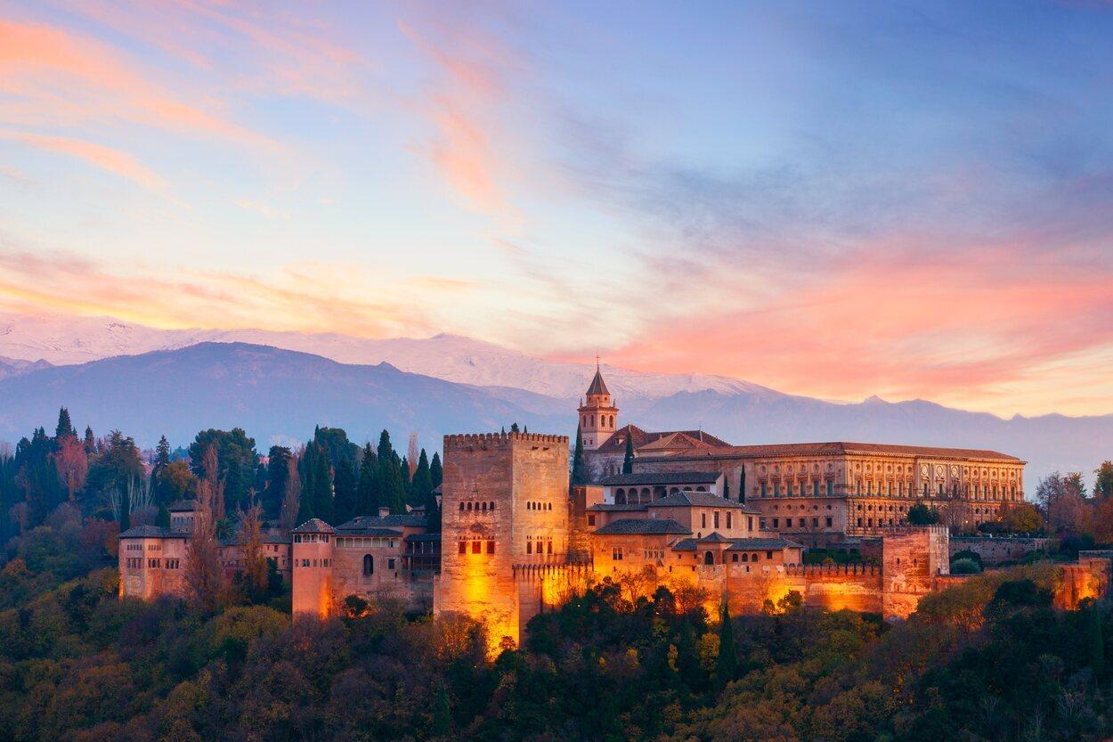 Vista de La Alhambra desde el mirador de San Nicolás