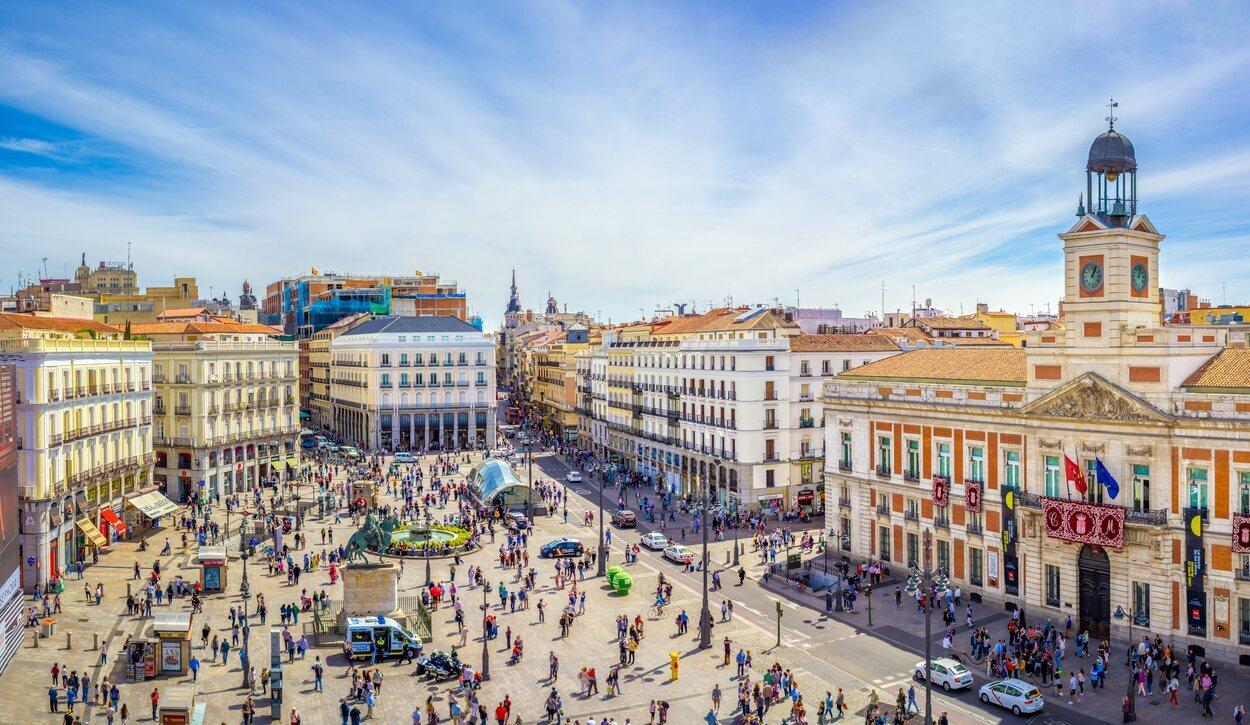 La zona de Sol es la más transitada en Madrid