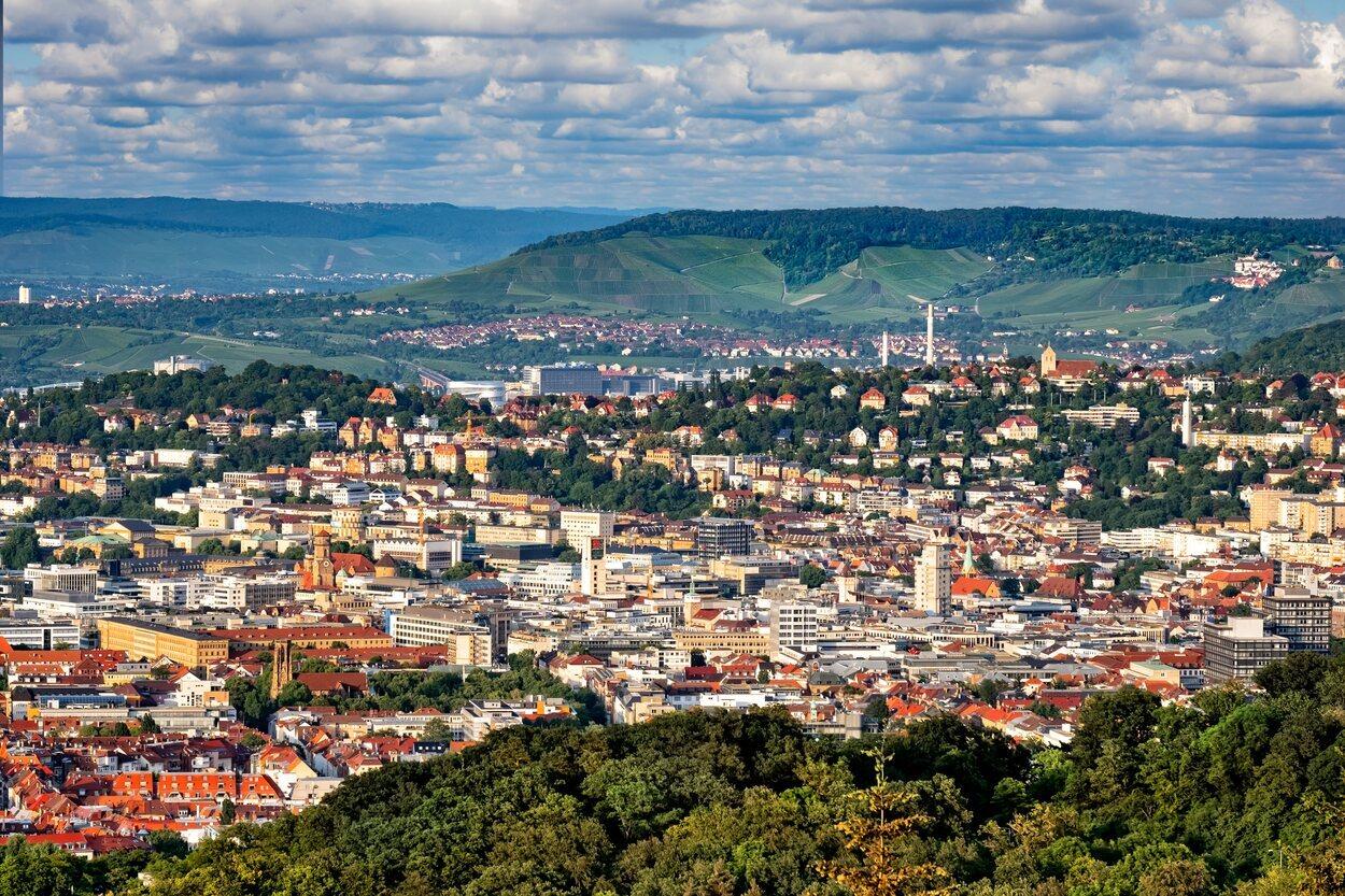 Desde Birkenkopf se puede obtener una vista de Stuttgart