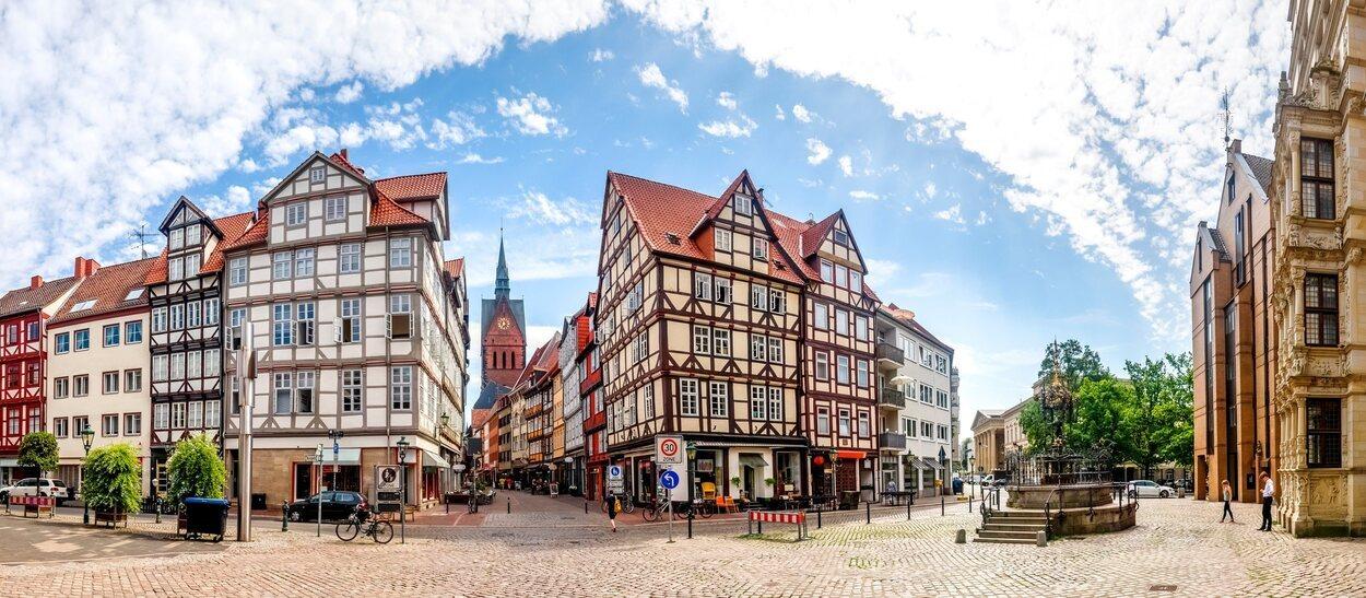 Plaza del Mercado de Hannover, situada en el corazón histórico de Hannover