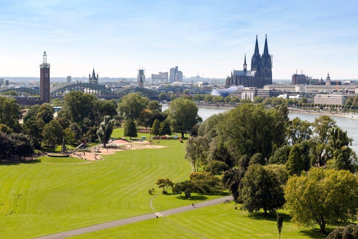 El Rheinpark es para muchos el parque más bonito de Colonia