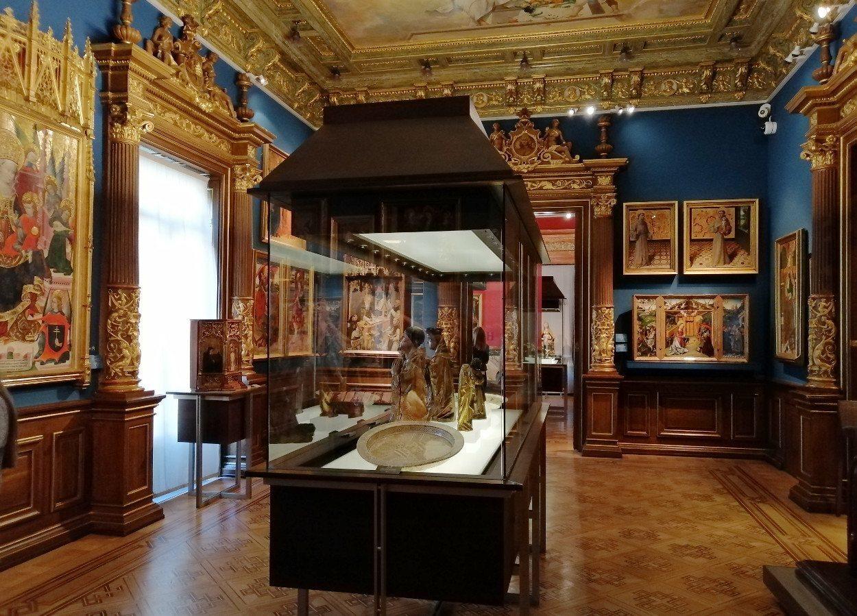 La primera planta del Museo Lázaro Galdiano está dedicada al arte español