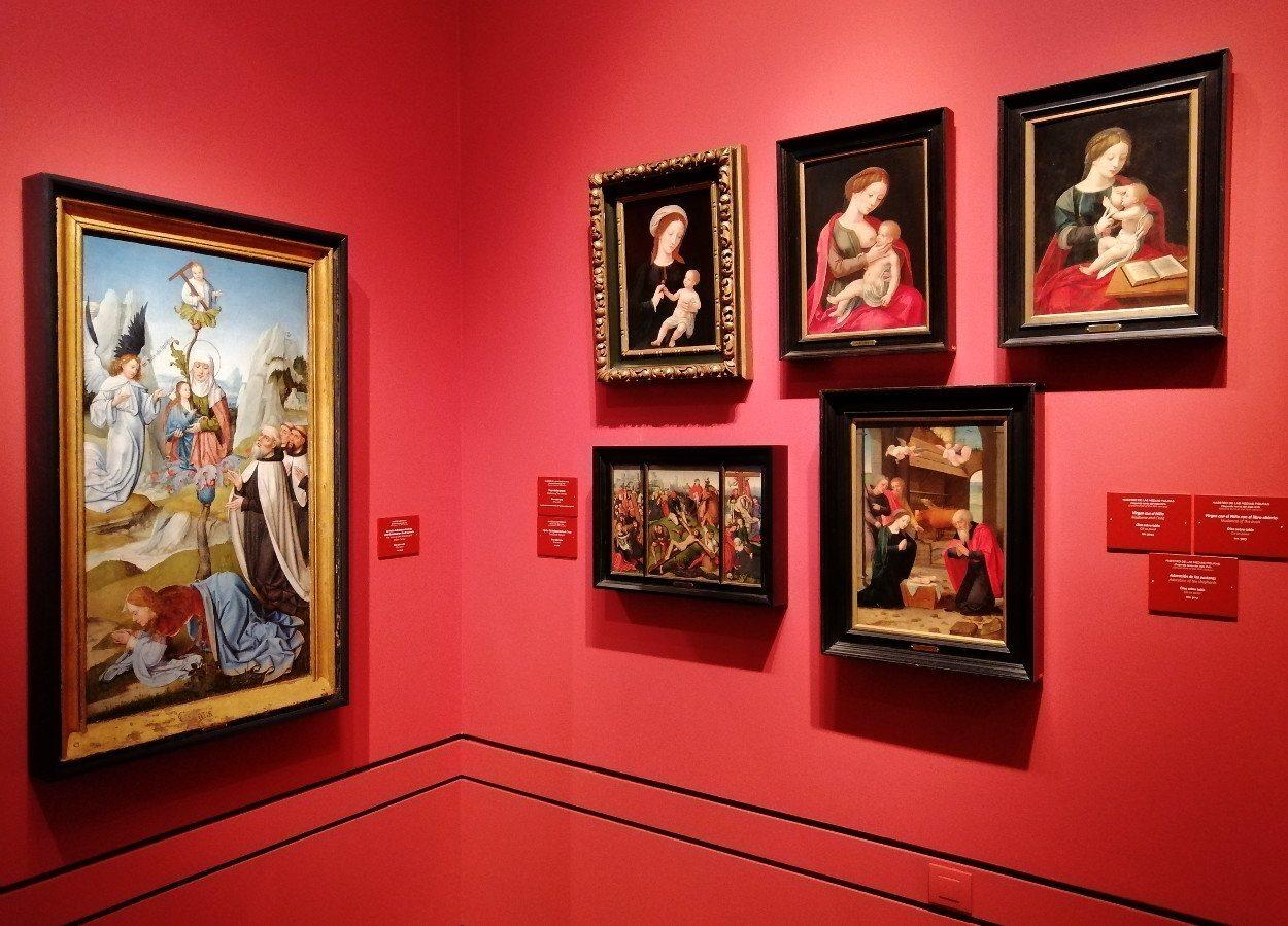 Uno de los rincones de la sala 17 dedicada a la pintura flamenca