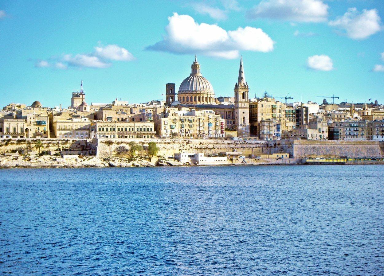Postal de La Valeta, la capital de Malta