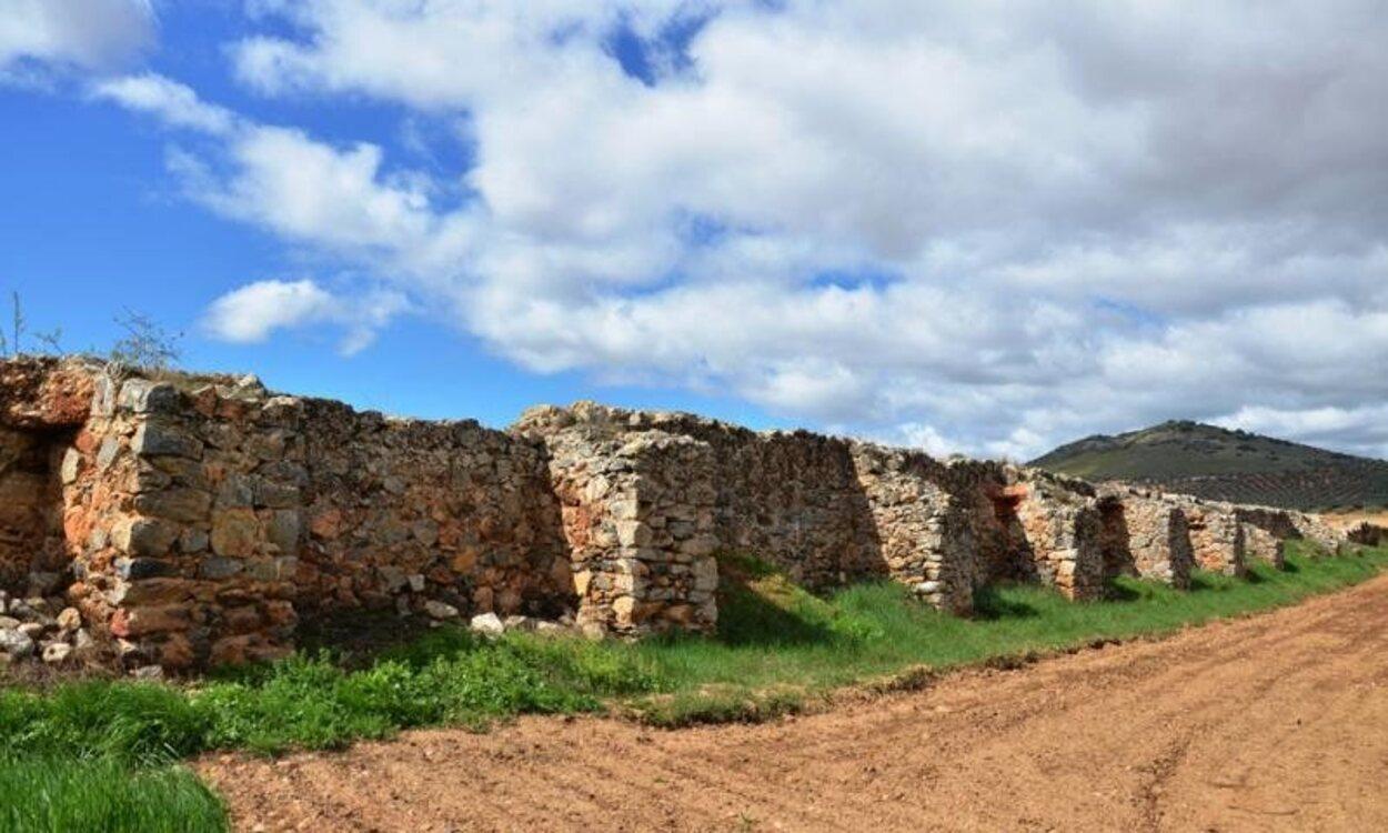 Muro de la presa romana