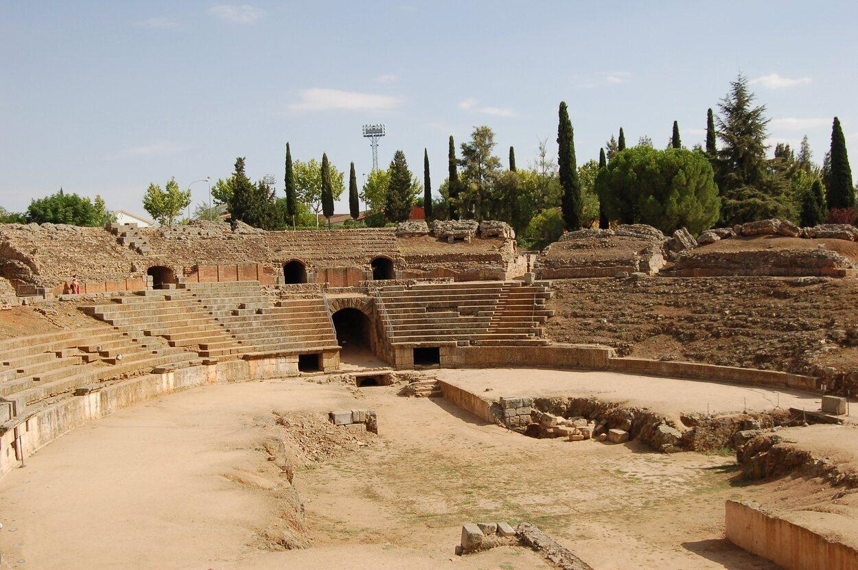 Vistas del Anfiteatro de Mérida