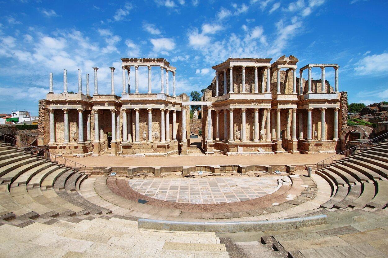 Vista panorámica del Teatro Romano de Mérida
